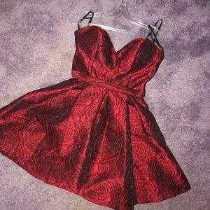 Stunning Rose Reflective homecoming dress